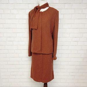Vintage Doncaster Wool Chanel Tweed Skirt Suit 14